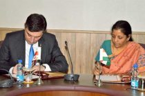MoS for Commerce & Industry (IC), Nirmala Sitharaman and the Minister of Economy and Sustainable Development of Georgia,