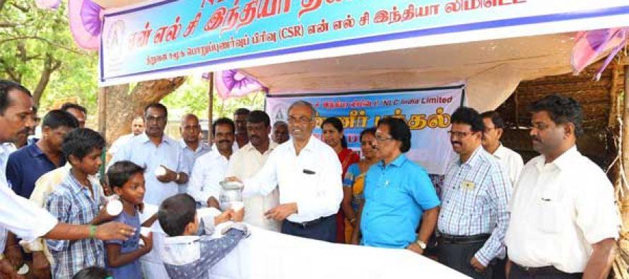 NLCIL Inaugurates 8 Free Butter Milk Distribution Stalls under CSR