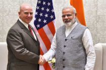 NSA, US, Lt. Gen. H.R. McMaster calls on the Prime Minister, Narendra Modi, in New Delhi on April 18, 2017.