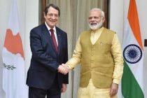 Prime Minister, Narendra Modi meeting the President of the Republic of Cyprus, Nicos Anastasiades