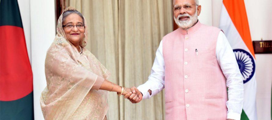 Modi, Sheikh Hasina launch India-Bangladesh rail, bus services