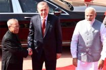 Turkish President Erdogan accorded ceremonial welcome