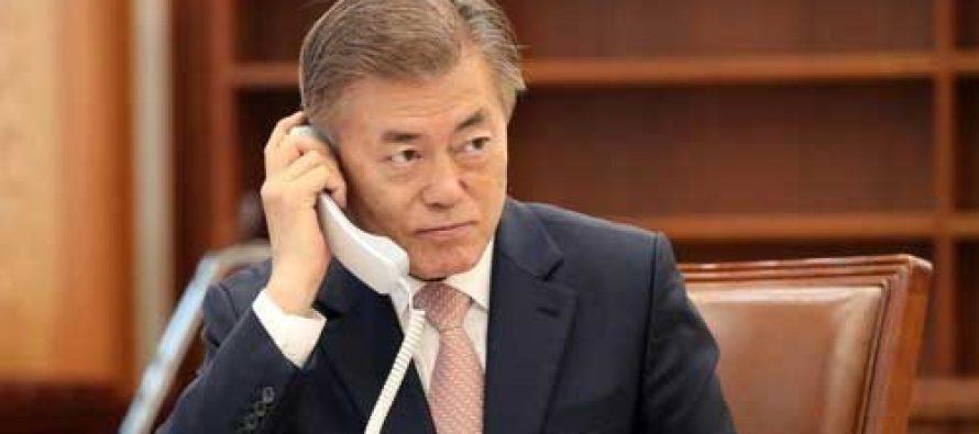 Moon thanks Modi for congratulations in Korean language