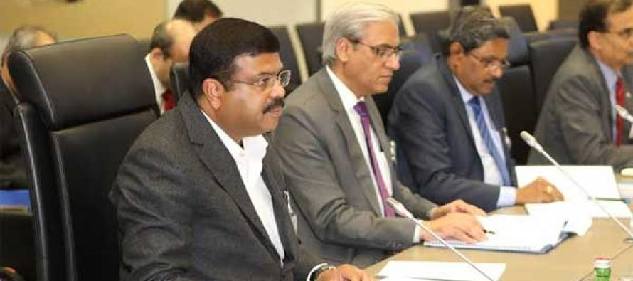 MOS PNG Dharmendra Pradhan at OPEC HQ at Vienna CO-Chairs India-OPEC Institutional Dialogue