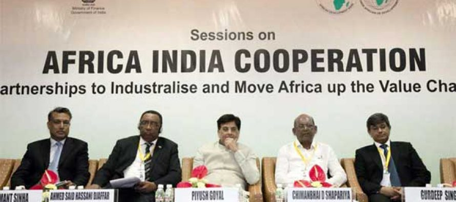 MoS for Power, Coal, New and Renewable Energy and Mines (IC), Piyush Goyal at the 'Strengthening International Solar Alliance & Africa-India Renewable Energy Partnerships