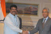 Petroleum Minister Dharmendra Pradhan meets visiting Prime Minister of Mauritius Pravind Kumar Jugnauth