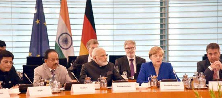 Modi meets German Chancellor Merkel