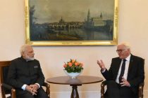 Prime Minister, Narendra Modi calls on the President of Germany, Frank-Walter Steinmeier, at Castle Bellevue,