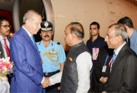 Turkish President Erdogan arrives in India