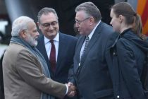 Modi arrives in Russia