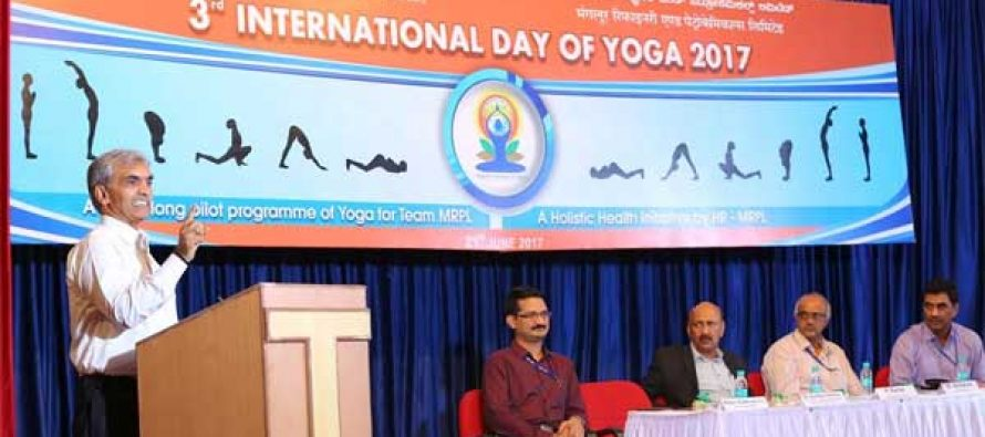 International Yoga Day celebrations begin in MRPL