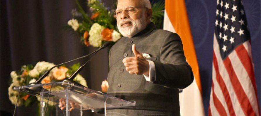 PM Modi lauds Sushma Swaraj in US