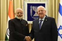 Prime Minister, Narendra Modi calls on the President of Israel, Reuven Rivlin, in Jerusalem, Israel on July 05, 2017.