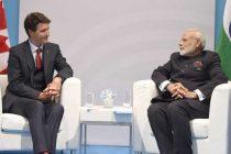Modi meets Canadian PM