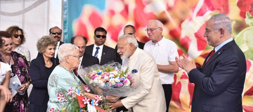 PM Modi visits Israeli flower farm, chrysanthemum named after him