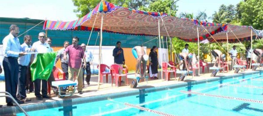 R.Vikraman, Director (HR) NLCIL, inaugurates KVS Regional Swimming Meet