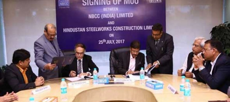 NBCC INKS MOU WITH ITS SUBSIDIARY HSCL