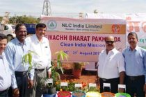 Dr Sarat Kumar Acharya,CMD,NLCIL inaugurated the Mass plantation of Ultra High Density Mango Saplings in Neyveli Solar Power Project Premises