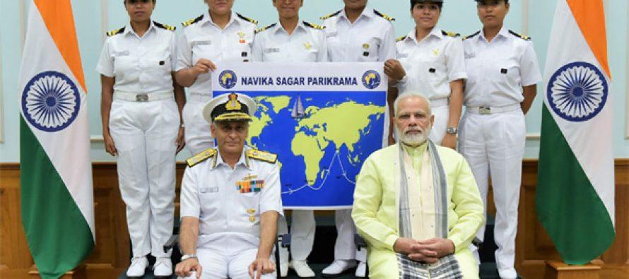 Navy's all-women crew set to circumnavigate globe