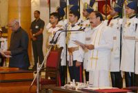 M. Venkaiah Naidu sworn in as new Vice President