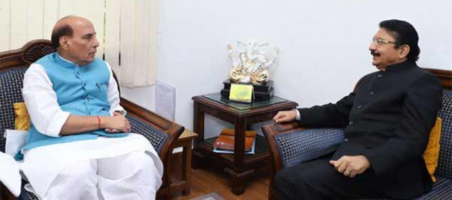 Governor Rao meets Rajnath amid TN political crisis