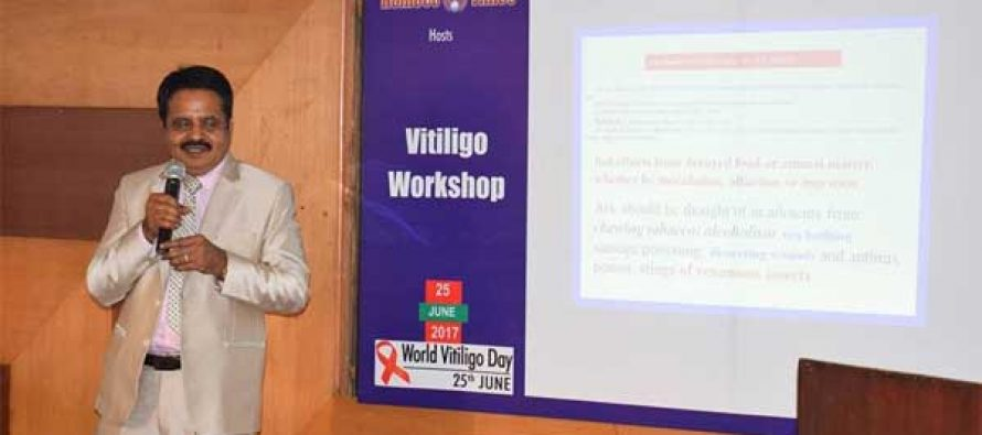 HOMOEOPATHY CURES 70% CASES OF VITILIGO CLAIMS WORKSHOP ON WORLD VITILIGO DAY