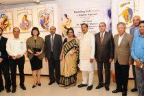 Dr. Mahesh Sharma inaugurated an exhibition of Painting by Rashmi Agarwal