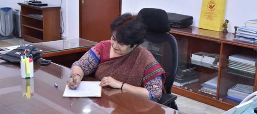 Preeti Sudan taking charge as the Secretary, Ministry of Health & Family Welfare, in New Delhi on October 17, 2017.