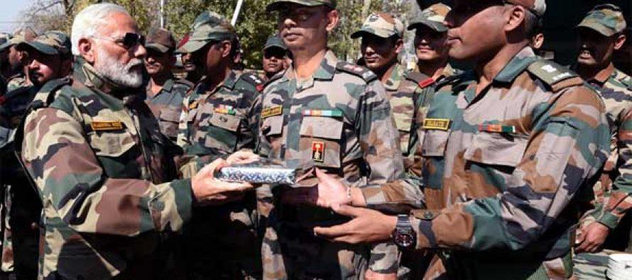 Modi celebrates Diwali with soldiers on LoC, calls them 'my family'