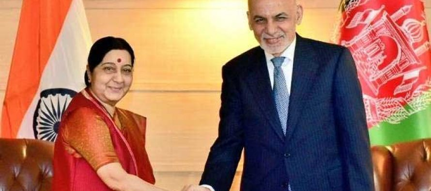 Sushma calls on visiting Afghan President