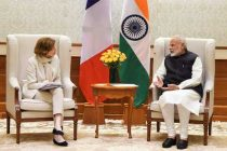 Minister for the Armed Forces of France, Florence Parly calling on the Prime Minister, Narendra Modi