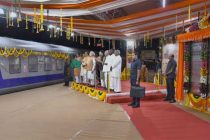 PM unveils key railway track in north Karnataka