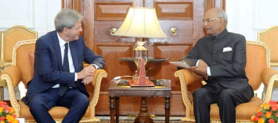 PRIME MINISTER OF ITALY CALLS ON THE PRESIDENT