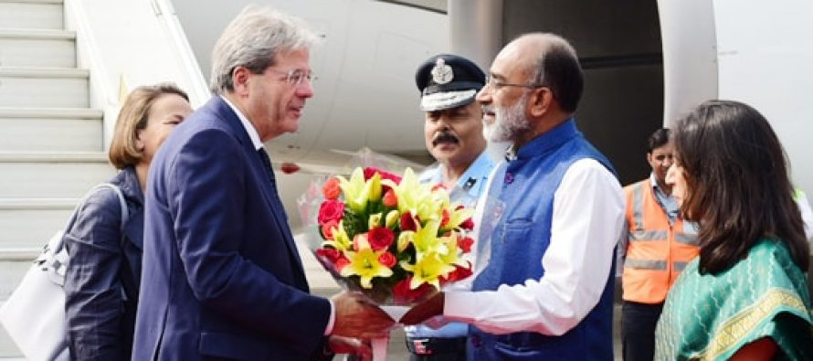 Italian PM arrives in India to boost bilateral ties (Lead)