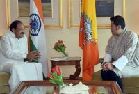 Vice President, Shri M. Venkaiah Naidu calling on the King of Bhutan, His Majesty Jigme Khesar Namgyel Wangchuck