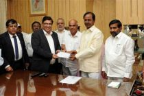 CM of Telangana hands over advance cheque to BHEL for setting up 5×800 MW Yadadri Power Project