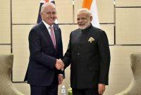 Prime Minister, Narendra Modi meeting the Prime Minister of Australia, Malcolm Turnbull, in Manila, Philippines