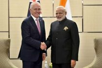 Prime Minister, Narendra Modi meeting the Prime Minister of Australia, Malcolm Turnbull, in Manila, Philippines