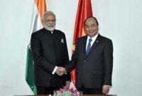 Prime Minister, Narendra Modi meeting the Prime Minister of Socialist Republic of Vietnam, Nguyen Xuan Phuc