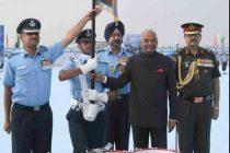 Kovind awards standards to two IAF squadrons