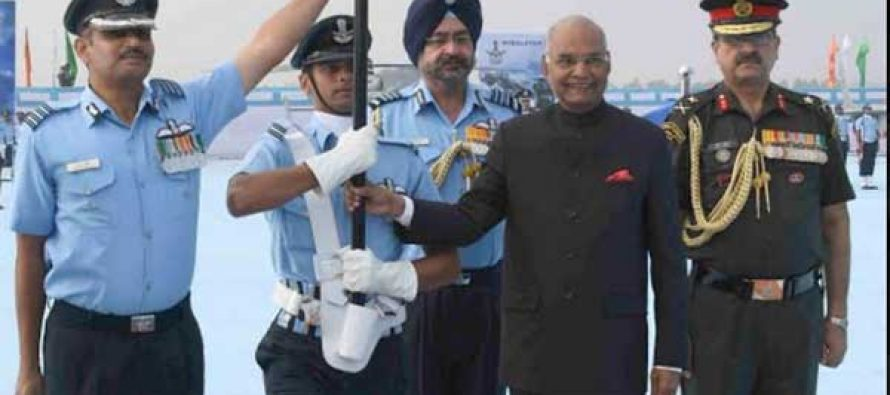 Kovind awards standards to two IAF squadrons