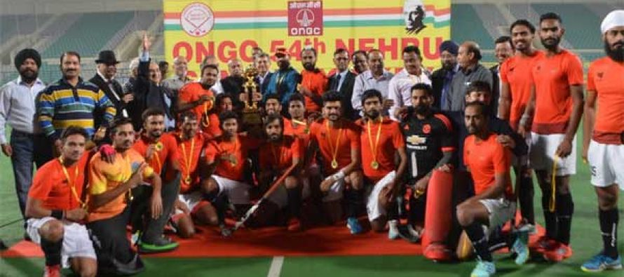 PNB Senior Hockey team wins the  prestigious 54th Jawaharlal Nehru Senior Hockey tournament 2017