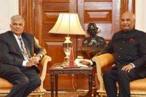 Prime Minister of the Democratic Socialist Republic of Sri Lanka, Ranil Wickremesinghe calling on the President, Ram Nath Kovind