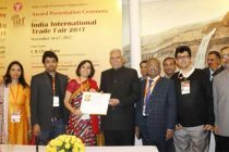 Ministry of Steel Pavilion receives Special Appreciation Certificate at IITF 2017