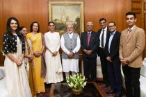 Ms. Manushi Chhillar, Miss World 2017 calls on the Prime Minister Narendra Modi