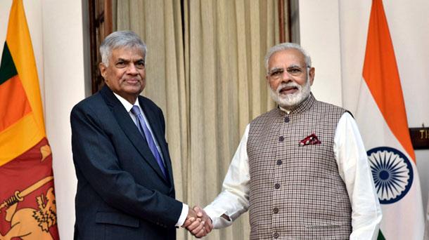 The Prime Minister, Shri Narendra Modi meeting the Prime Minister of the Democratic Socialist Republic of Sri Lanka, Mr. Ranil Wickremesinghe, at Hyderabad House, in New Delhi on November 23, 2017.