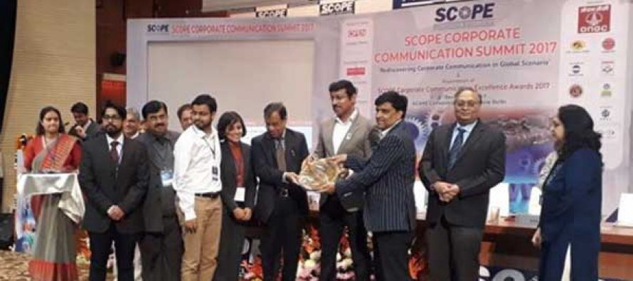 HPCL SWEEPS SCOPE CORPORATE COMMUNICATION EXCELLENCE AWARDS 2017