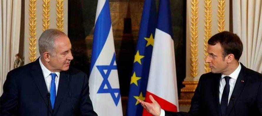 Macron tells Netanyahu to 'give chance' to peace