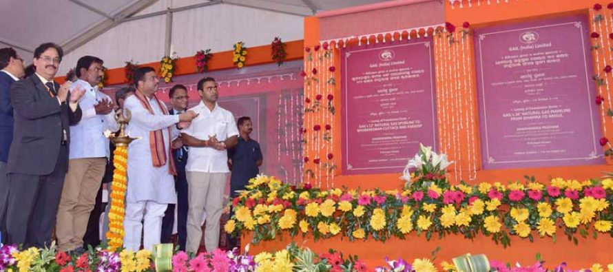 Pradhan lays foundation stone for Dhamra-Angul gas pipeline