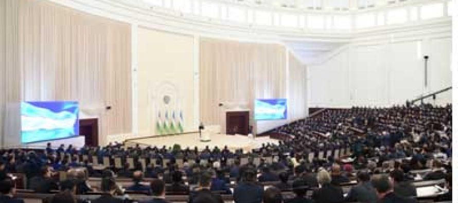 The Uzbek President addressed the Parliament of Uzbekistan